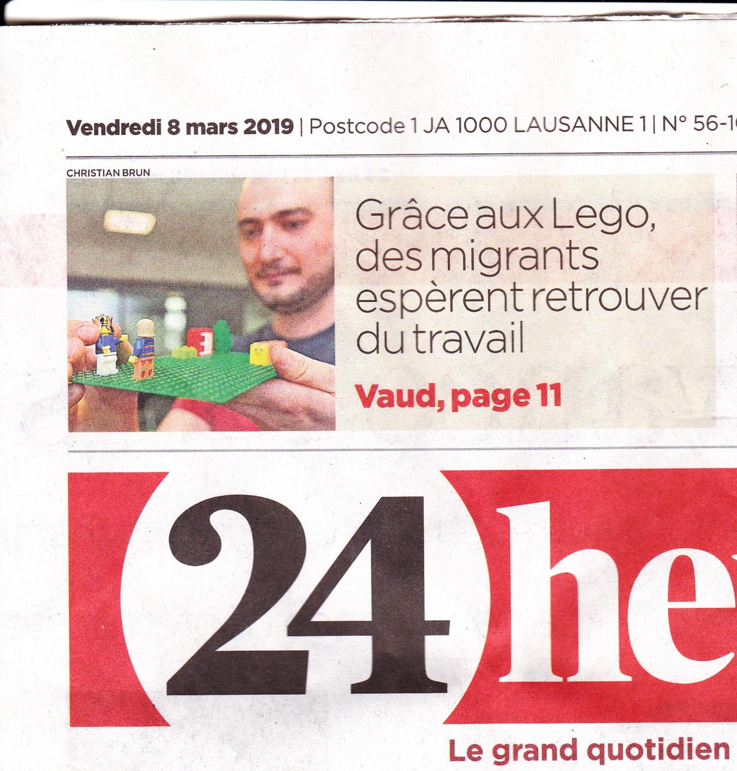 24 heures - LEGO SERIOUS PLAY - SERIEUSEMENT LUDIQUE - SWISSTART