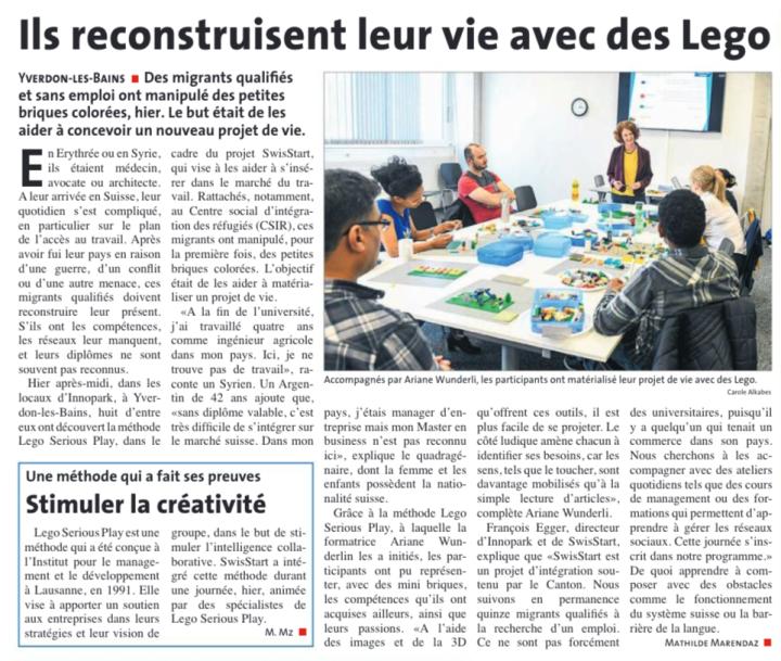 LEGO SERIOUS PLAY - SWISSTART - LA REGION NORD VAUDOIS